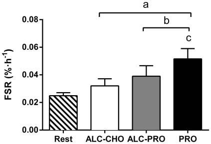 アルコール摂取がタンパク質合成に及ぼす影響