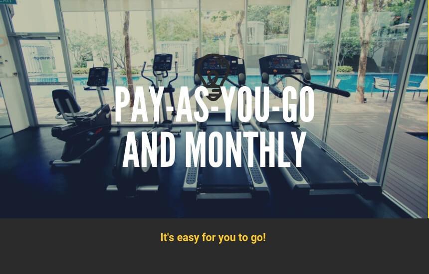 パーソナルトレーニングジムの都度払いと月額払いについて