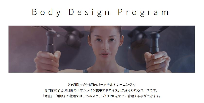 フィンクフィットのボディデザインプログラム